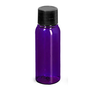 Purple Bottle with Black Cap 1oz