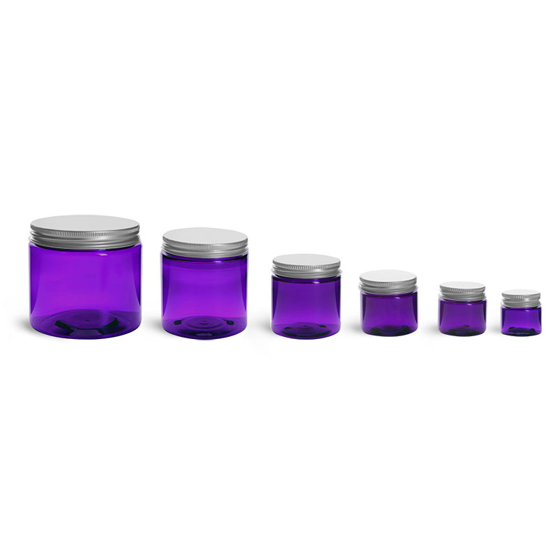 Purple Plastic Jar 2oz