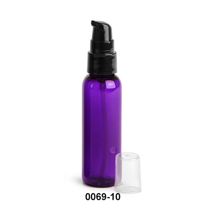 Purple Bottle with Treatment Pump 2oz