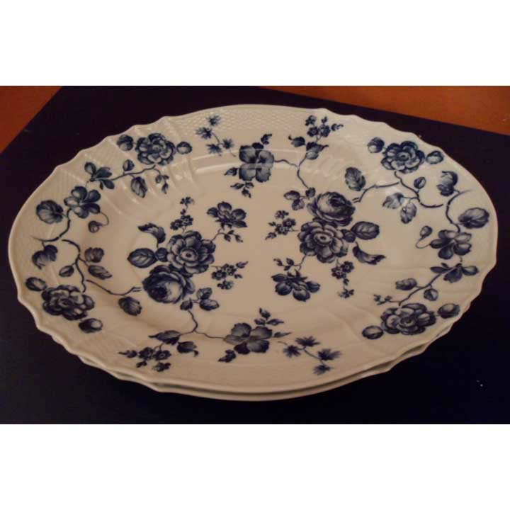 Blue Rose Oval Platter