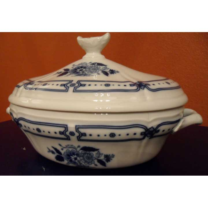 Taormina Blue Covered Vegetable Dish