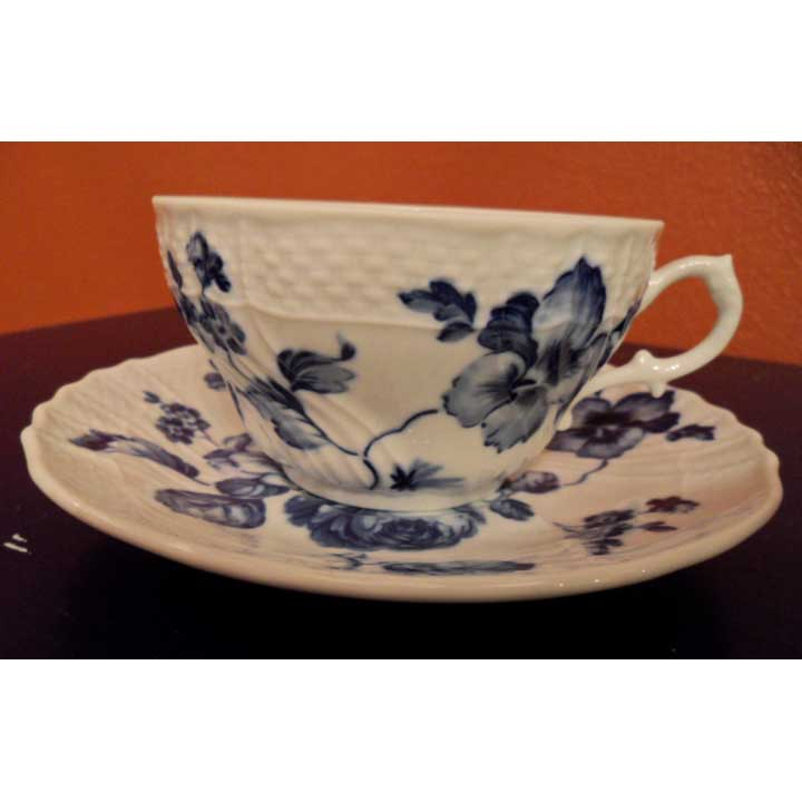 Blue Rose Teacup & Saucer