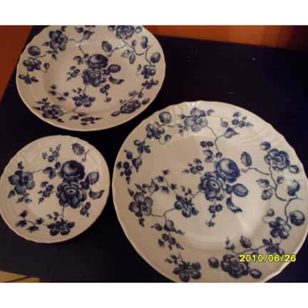Blue Rose Luncheon Plate