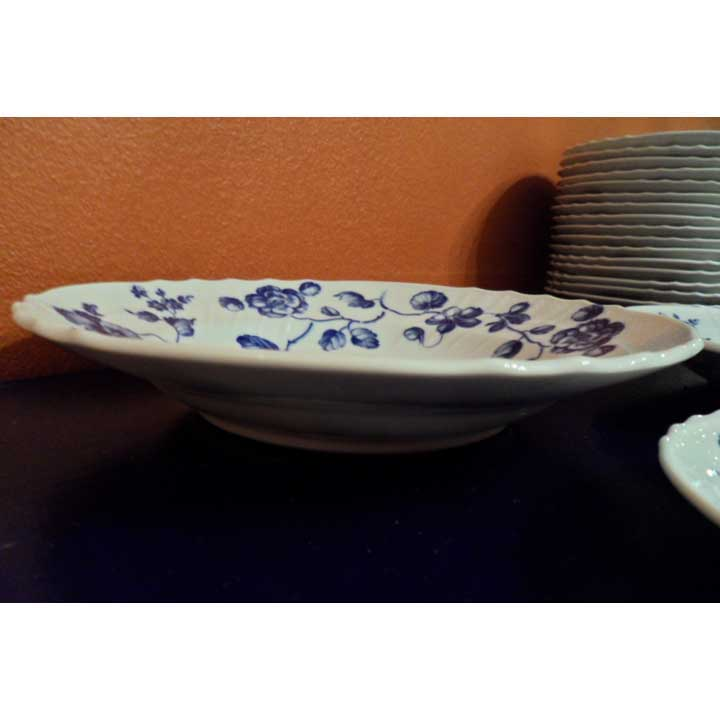 Blue Rose Soup Plate