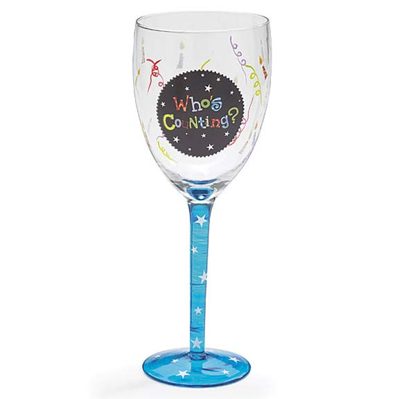 Who's Counting Wine Glass