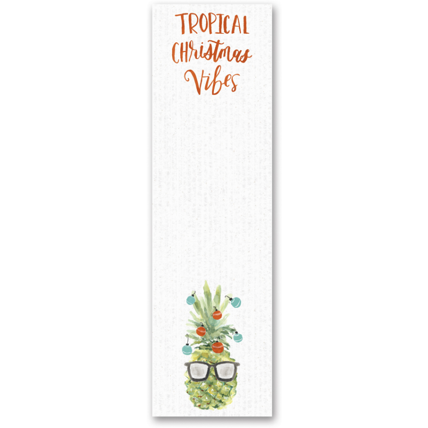 Tropical Christmas Magnetic Notepad