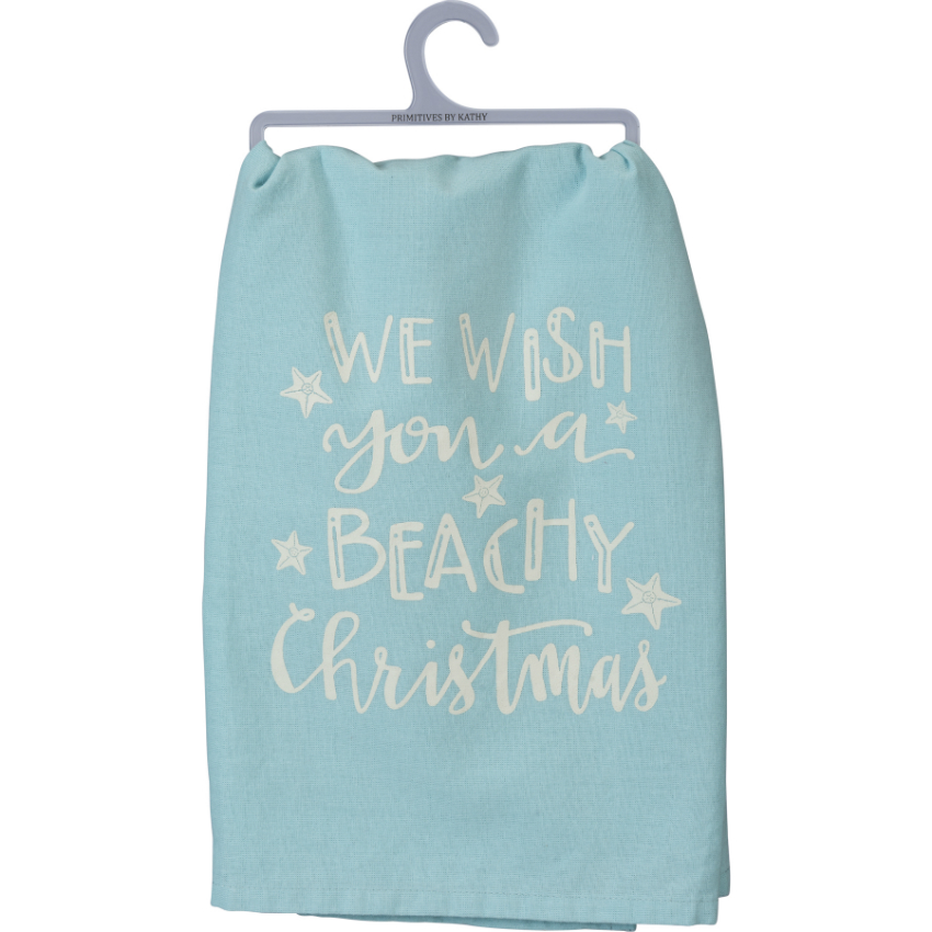 We Wish You a Beach Christmas Towel