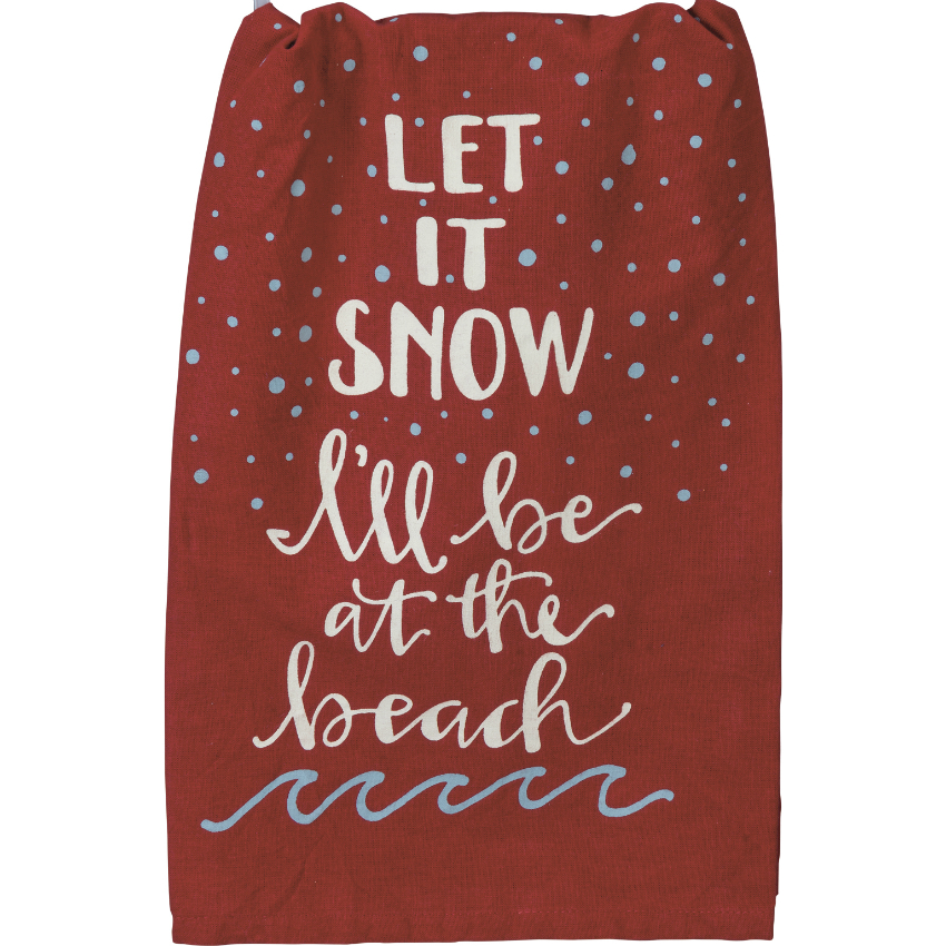 Let It Snow Flour Sack Towel