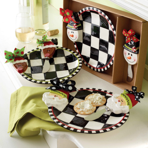 North Pole Ceramic Cheese Set