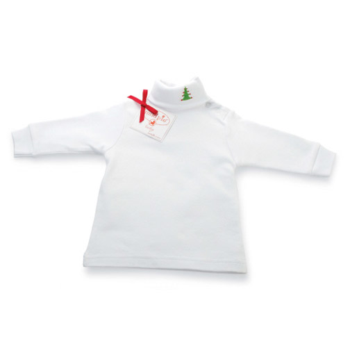 White Holiday Turtleneck 9-12M