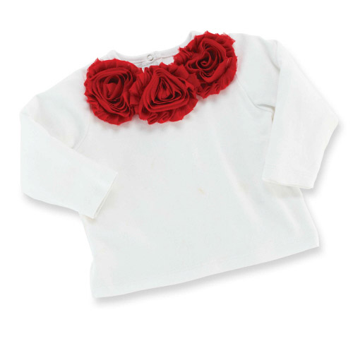 Red Rosette Top MD