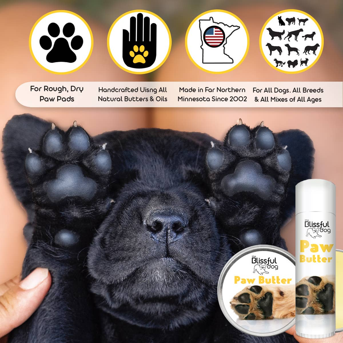 Paw Butter for Rough, Dry Dog Paws
