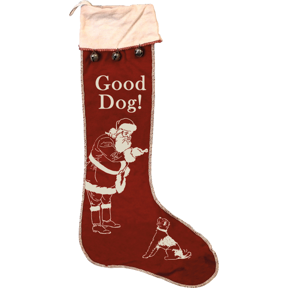 "Vintage ""Good Dog"" Stocking"