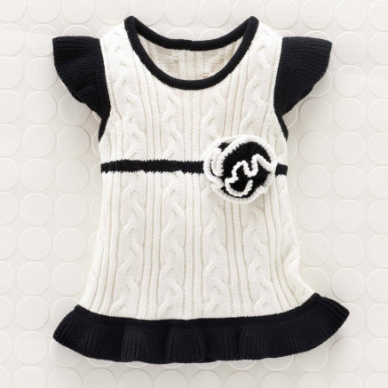 Cableknit Shift Dress 0-6M