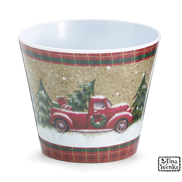 Holiday Road #4 Melamine Pot