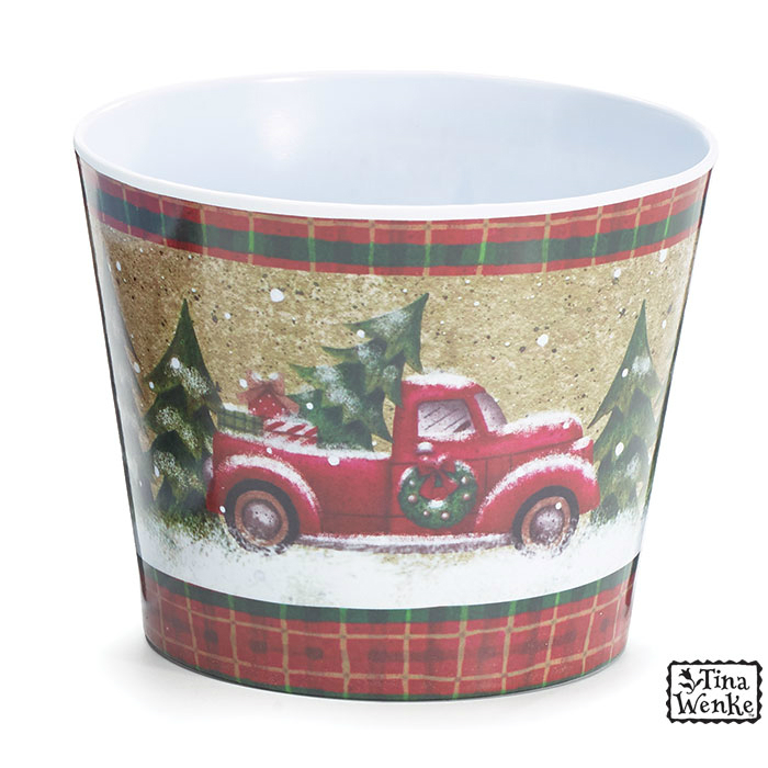 Holiday Road #6 Melamine Pot