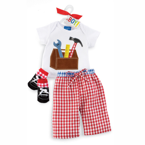 Gingham Tool Box 3 Piece Set 2-3T