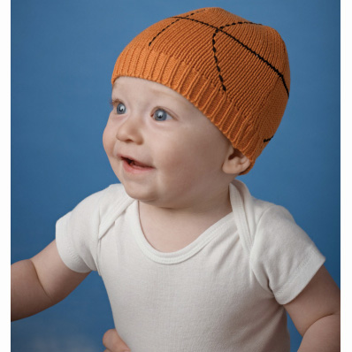 Basketball Knit Cap 0-12M