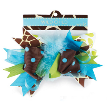 Giraffe Wild Child Hair Bow