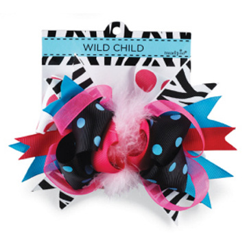 Zebra Wild Child Hair Bow