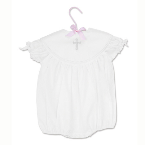 Cross Baby Girl Bubble 6M