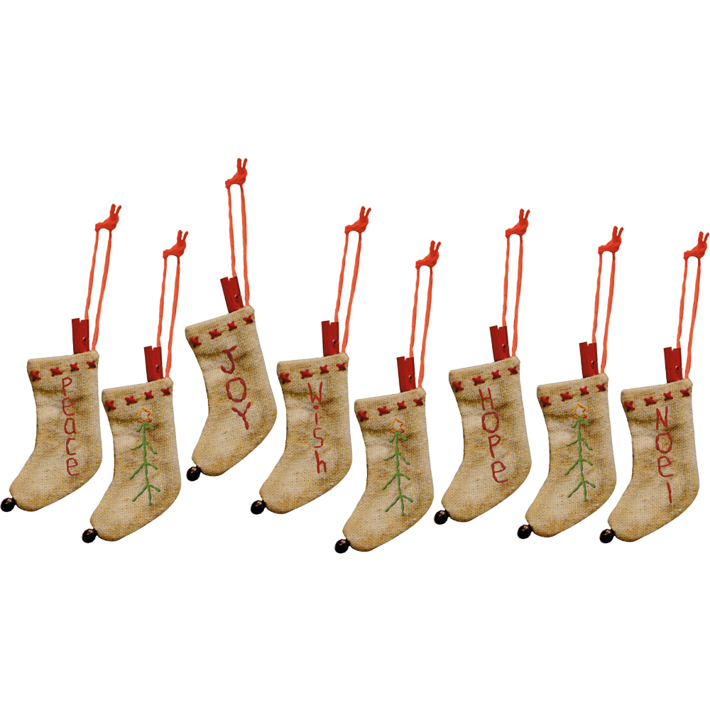 Tiny Stitched Stocking Ornaments/8