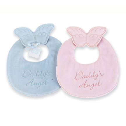 Daddy's Angel Blue Bib