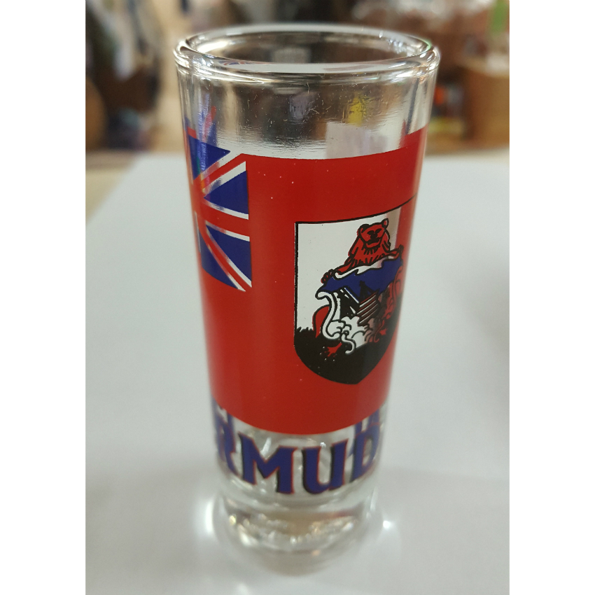 Bermuda Flag Shooter Glass