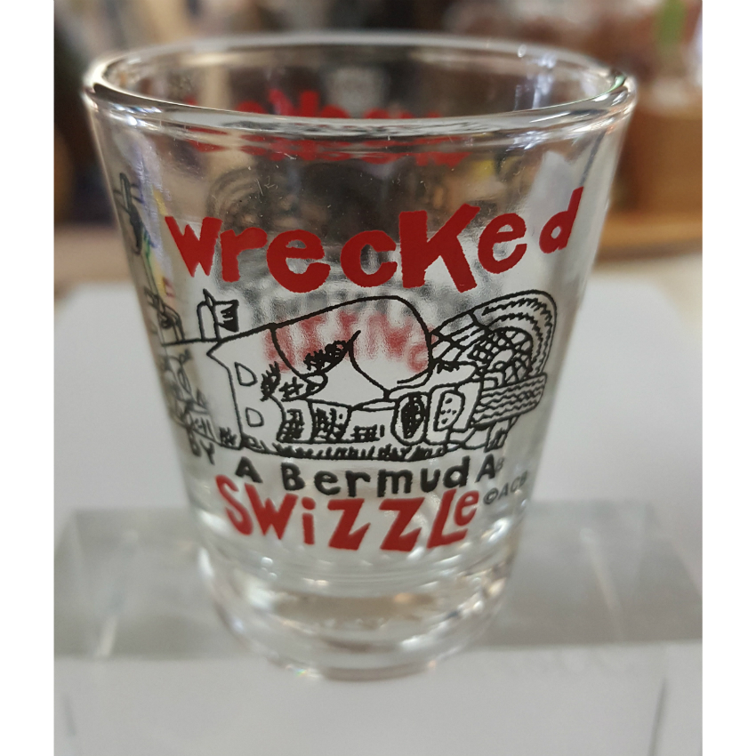 Wrecked Bermuda Swizzle Shot Glass