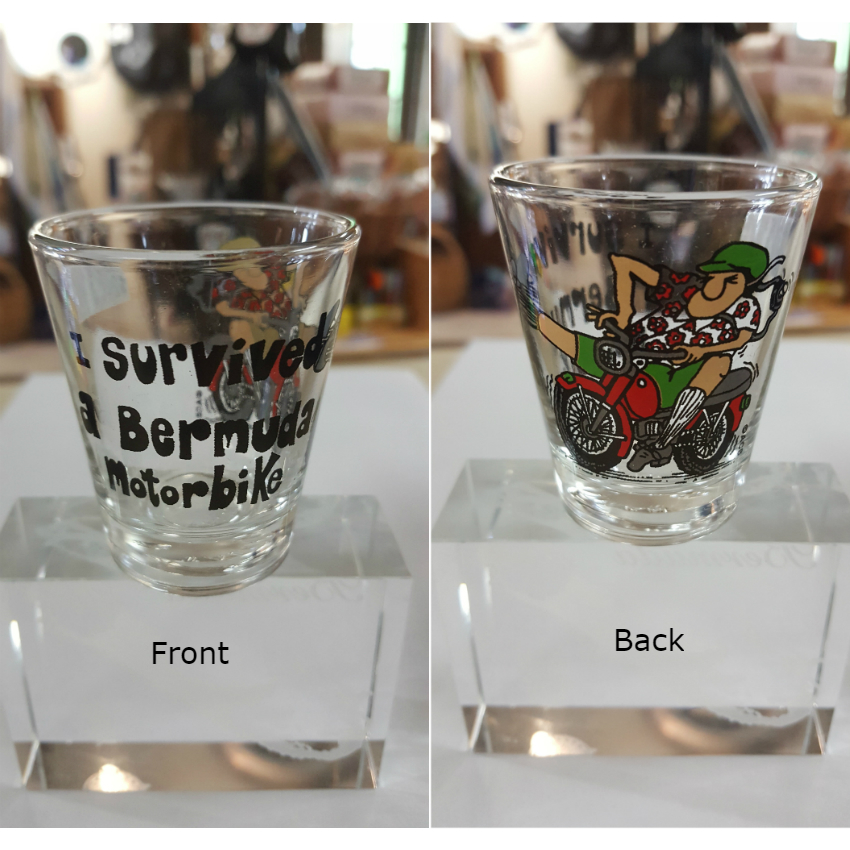 Bermuda Moped Shot Glass