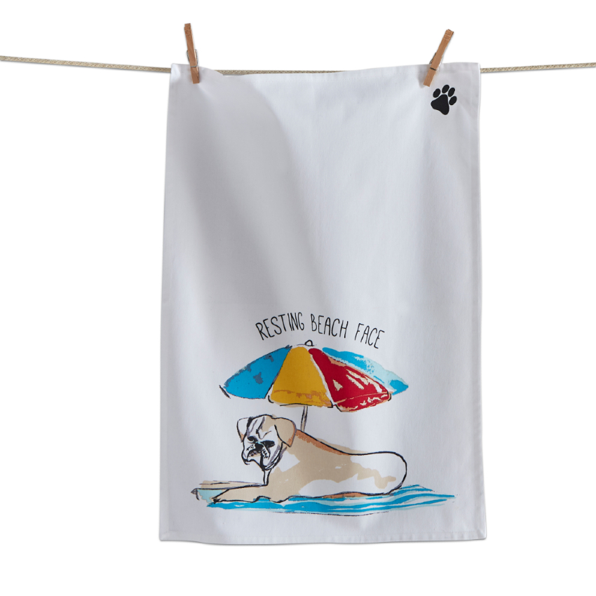 Resting Beach Face Boxer Dishtowel