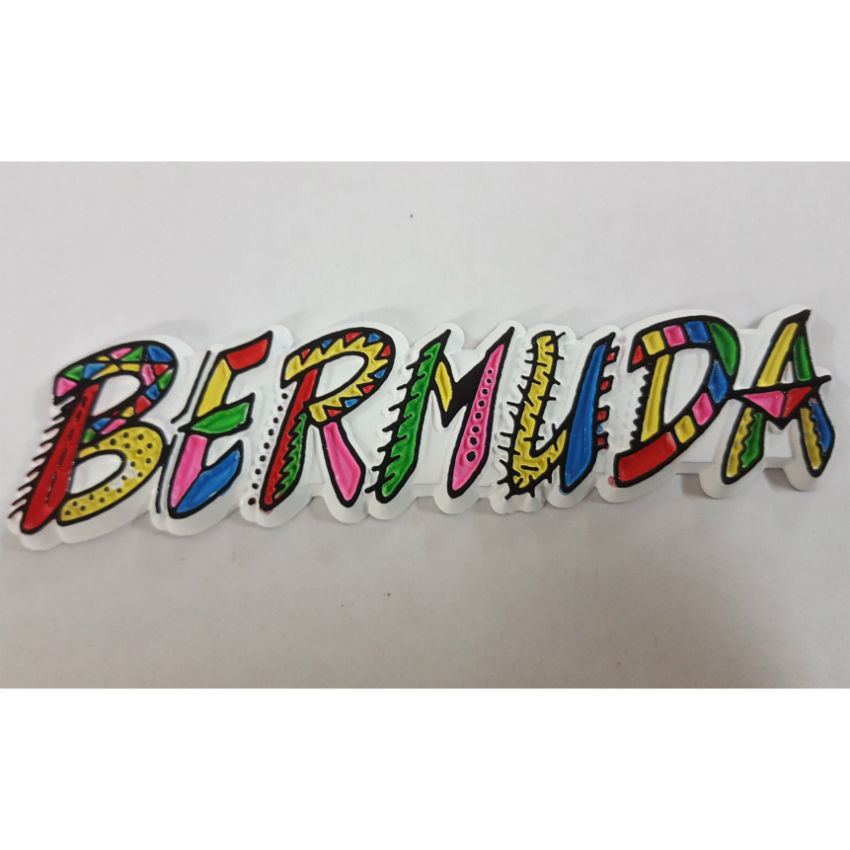 Bermuda Scribble Flexible Magnet