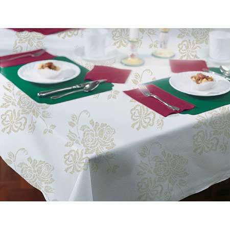 Gold Prestige Linen-like Tablecloth 108""