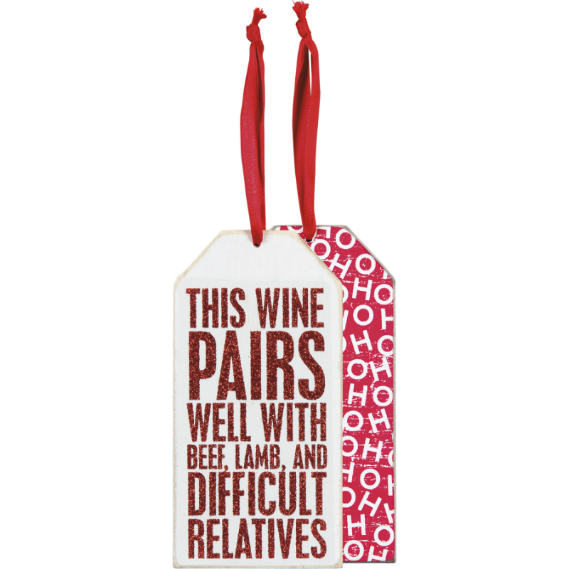 Wine Pairs Bottle Tag