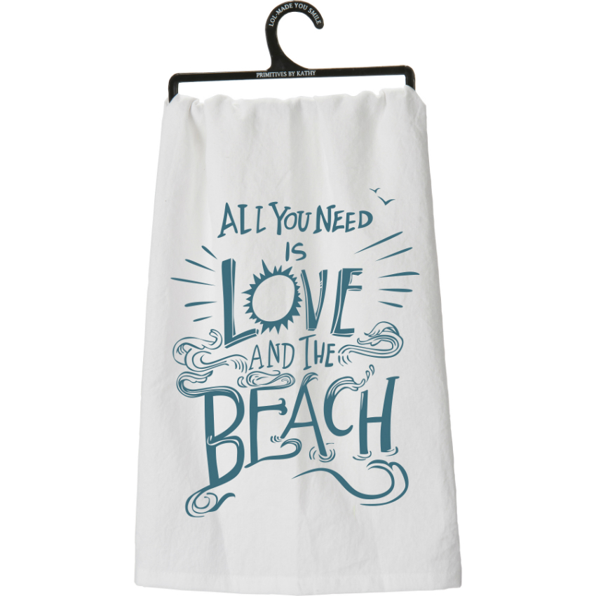 And The Beach Flour Sack Towel