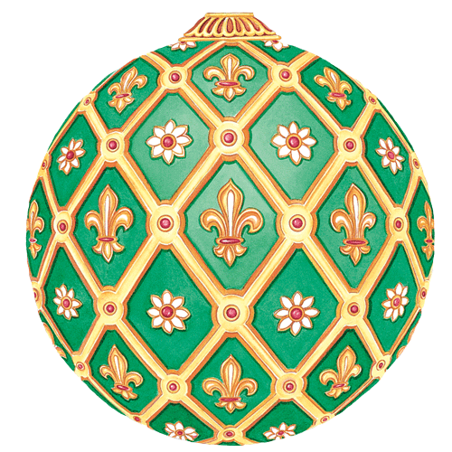 Imperial Ornament Green Placemats Set/4
