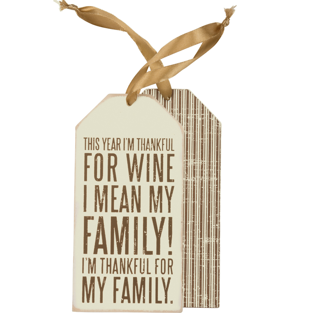 For Wine Bottle Tag