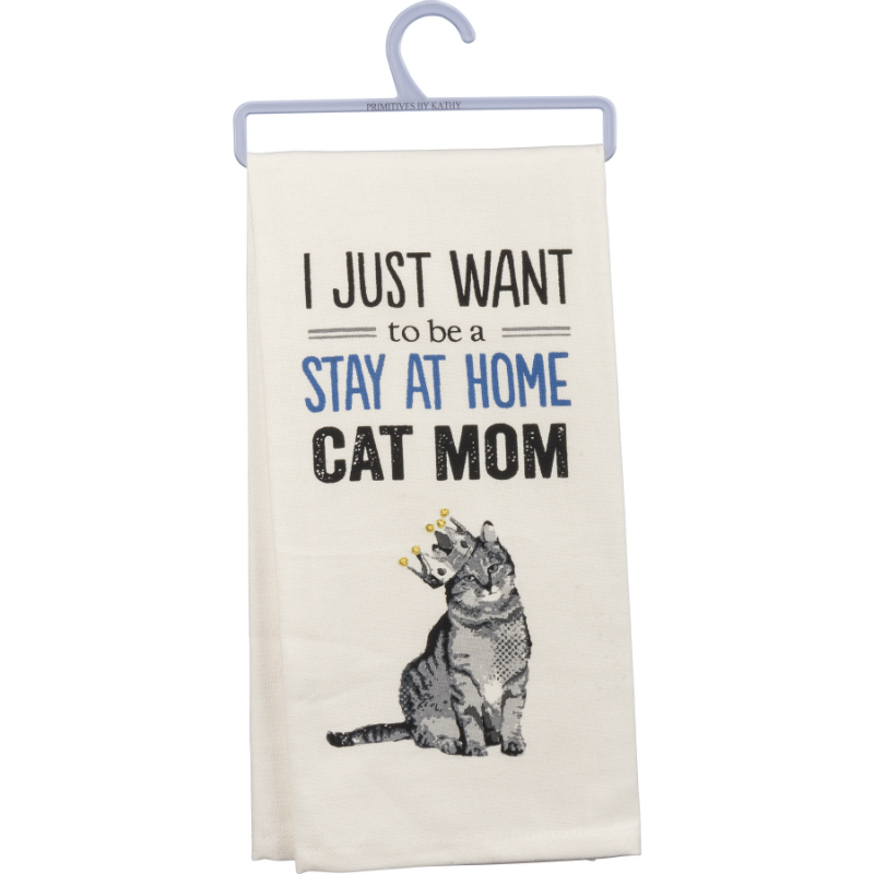 Cat Mom Dish Towel