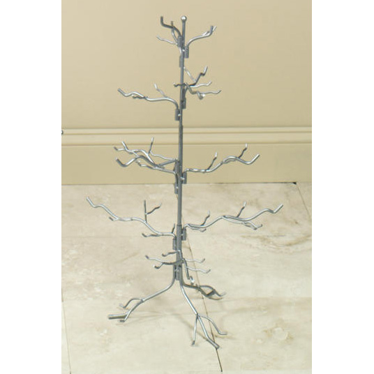 Natural Silver Ornament Tree 27""