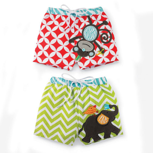 Monkey Boys Swim Trunks 2-3T