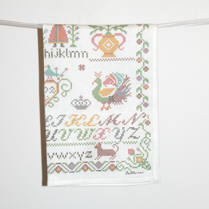 Cross-Stitch Tea Towel
