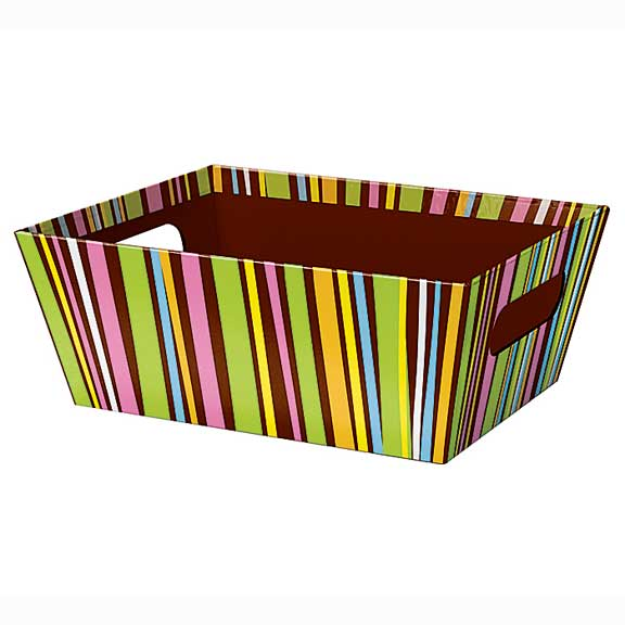 Chocolate Stripe Market Tray
