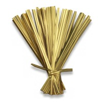 "Metallic Gold 4"" Twist Ties"