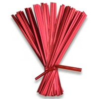 "Metallic Red 6"" Twist Tie"