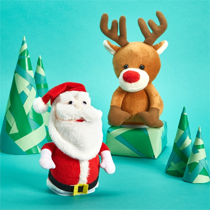 Holiday Speak & Repeat Plush Toy