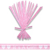 It's a Girl Twist Ties Pk/20