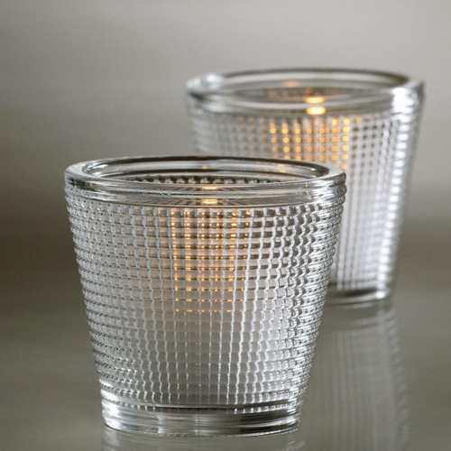 Diamond Clear Glass Votive