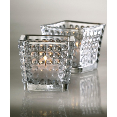 Hobnob Clear Glass Votive Holder