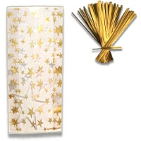 Gold/Silver Star Gift Bags Pk/20