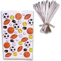 Sports Small Gift Bags Pk/25